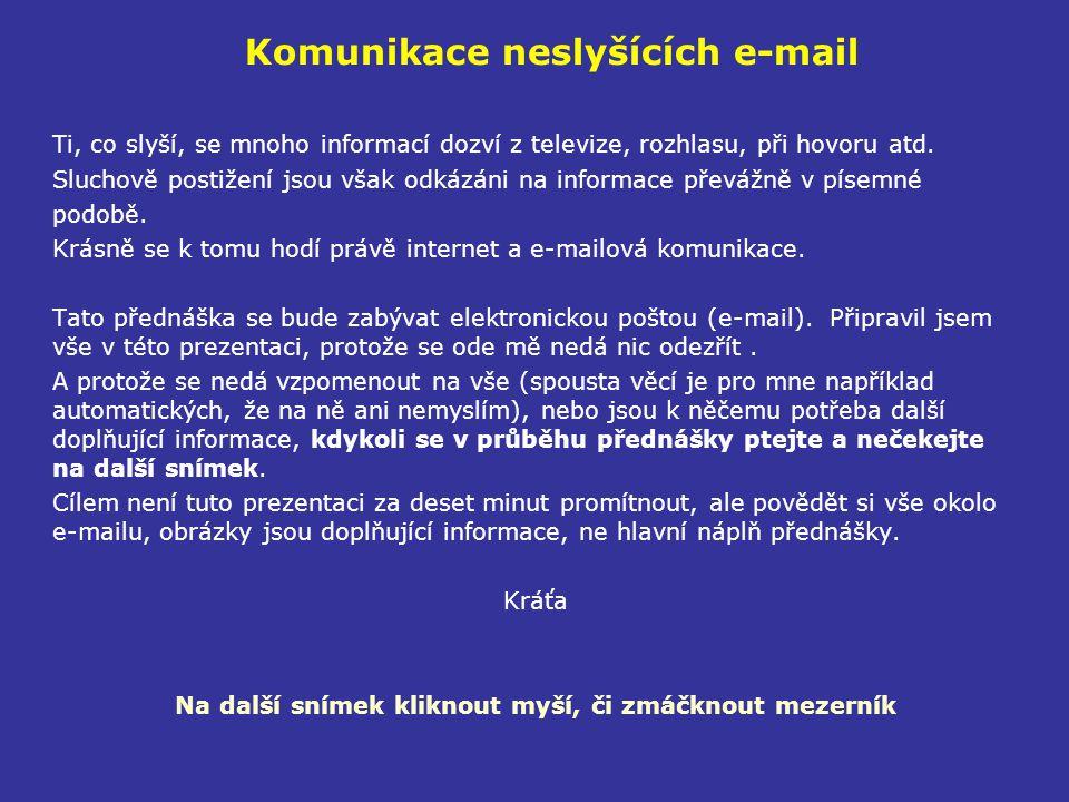 Komunikace neslyšících e-mail