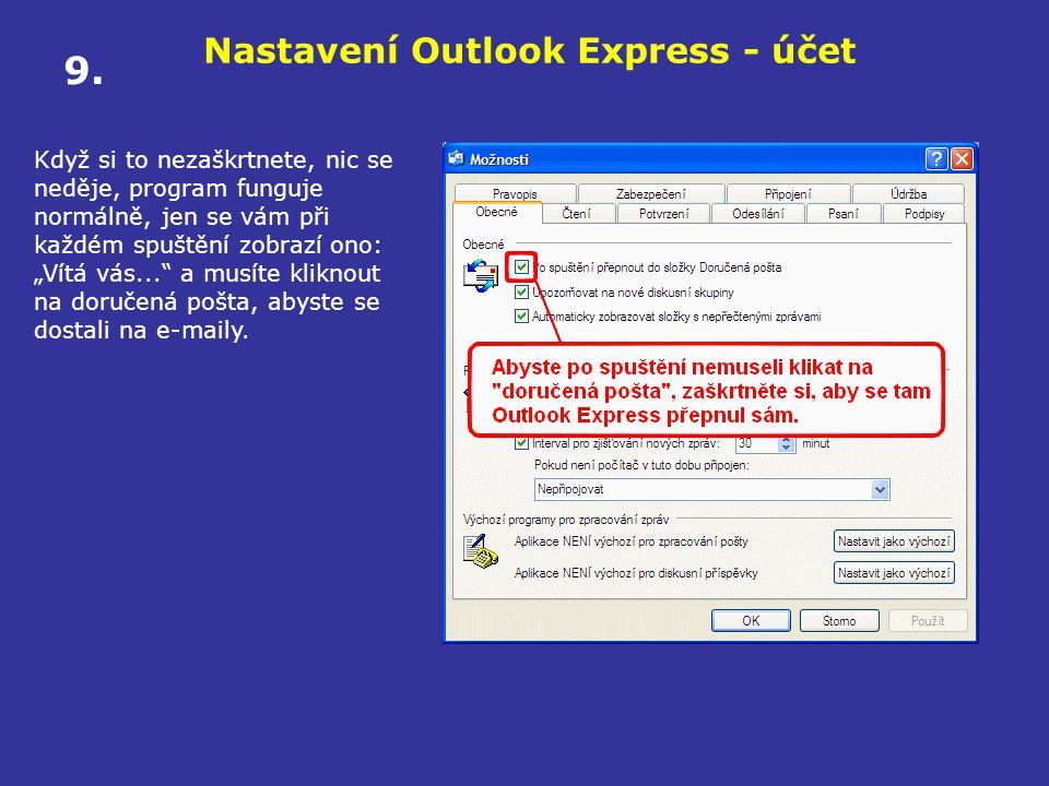 Nastavení Outlook Express - účet