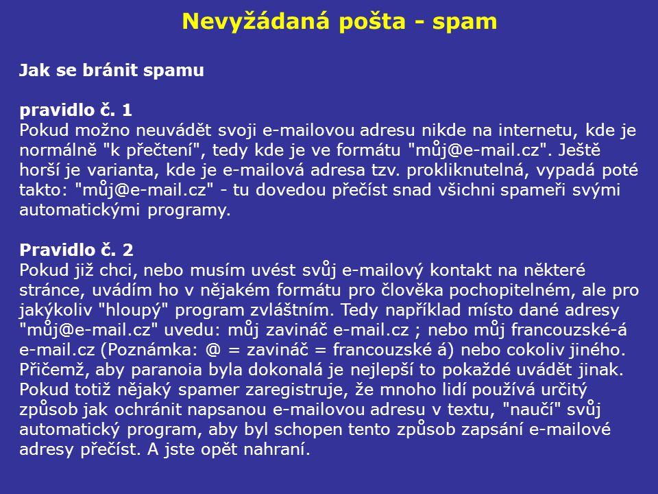 Nevyžádaná pošta - spam
