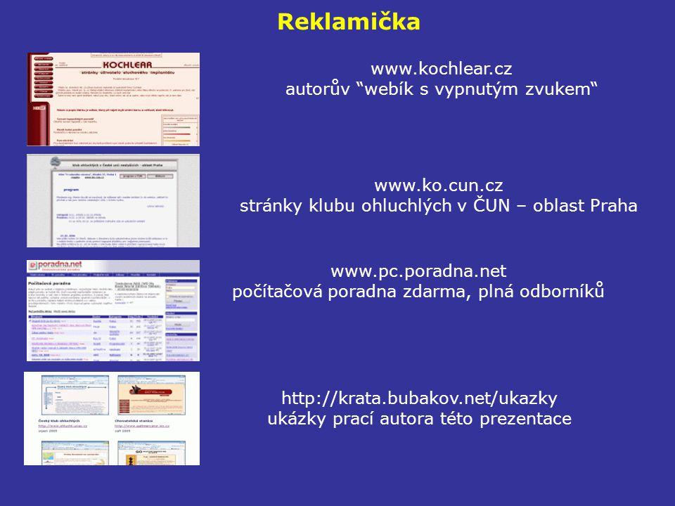 Reklamička www.kochlear.cz autorův webík s vypnutým zvukem