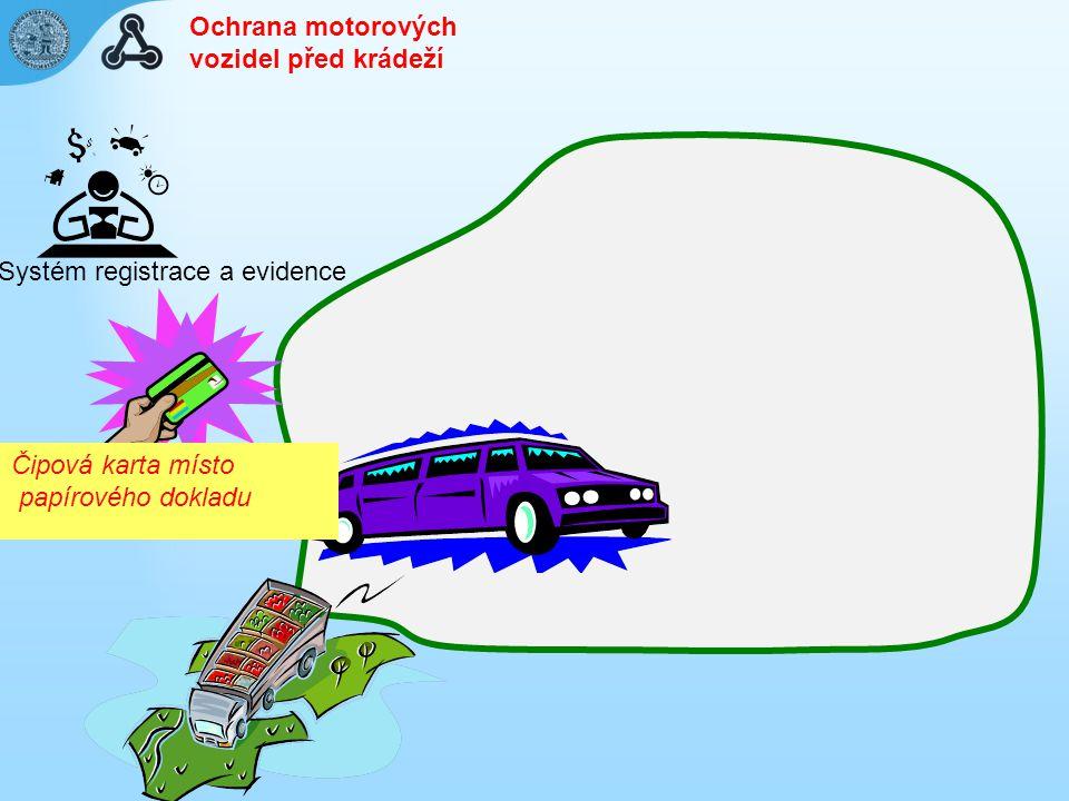 Ochrana motorových vozidel před krádeží. Systém registrace a evidence.