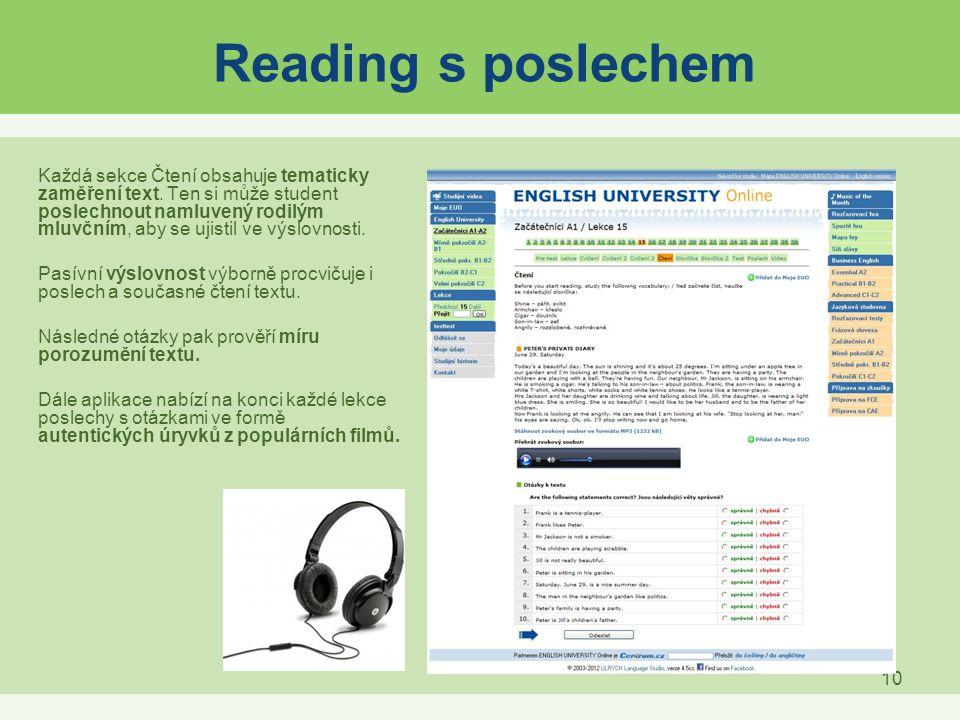 Reading s poslechem