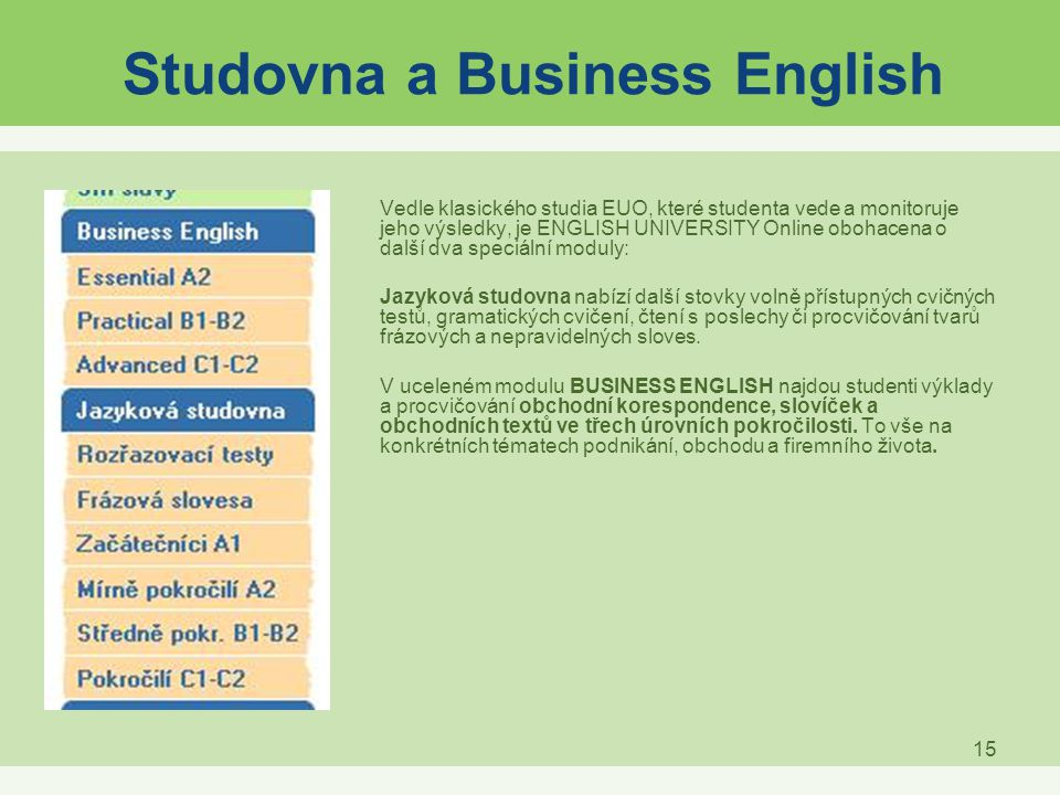 Studovna a Business English