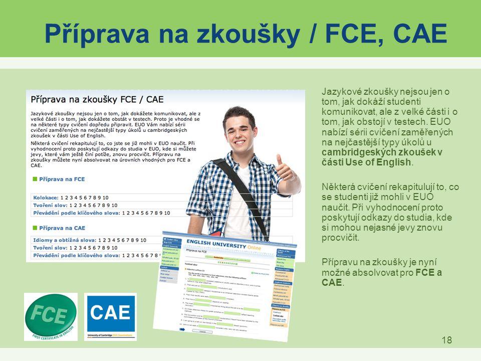 Příprava na zkoušky / FCE, CAE