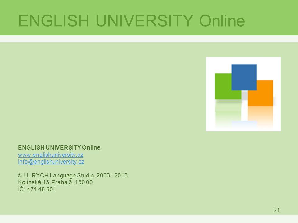 ENGLISH UNIVERSITY Online