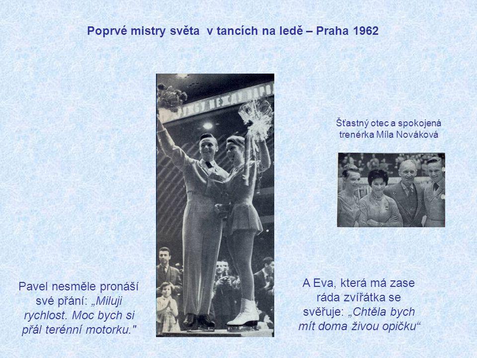 Poprvé mistry světa v tancích na ledě – Praha 1962