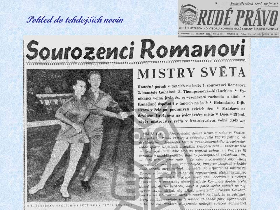 Pohled do tehdejších novin