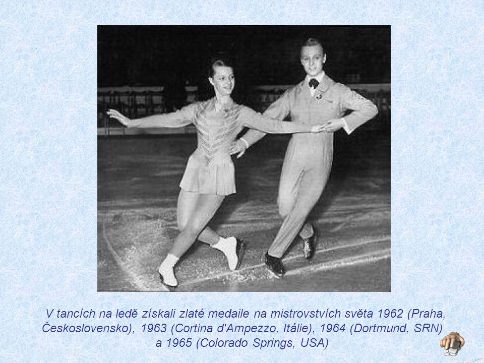 V tancích na ledě získali zlaté medaile na mistrovstvích světa 1962 (Praha, Československo), 1963 (Cortina d Ampezzo, Itálie), 1964 (Dortmund, SRN) a 1965 (Colorado Springs, USA)