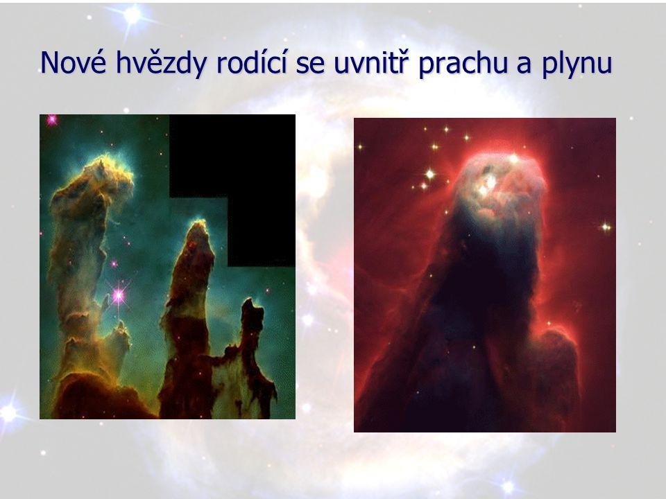 Nové hvězdy rodící se uvnitř prachu a plynu