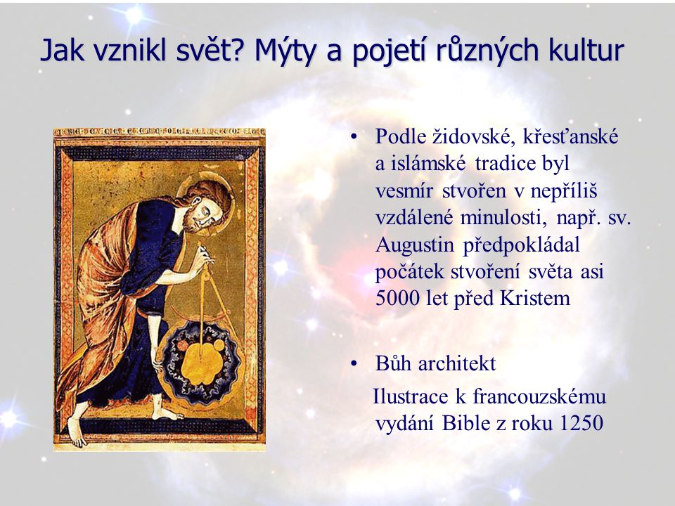 Jak vznikl svět Mýty a pojetí různých kultur
