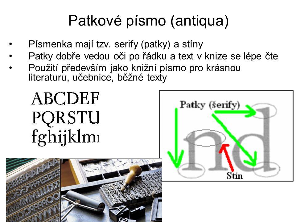 Patkové písmo (antiqua)