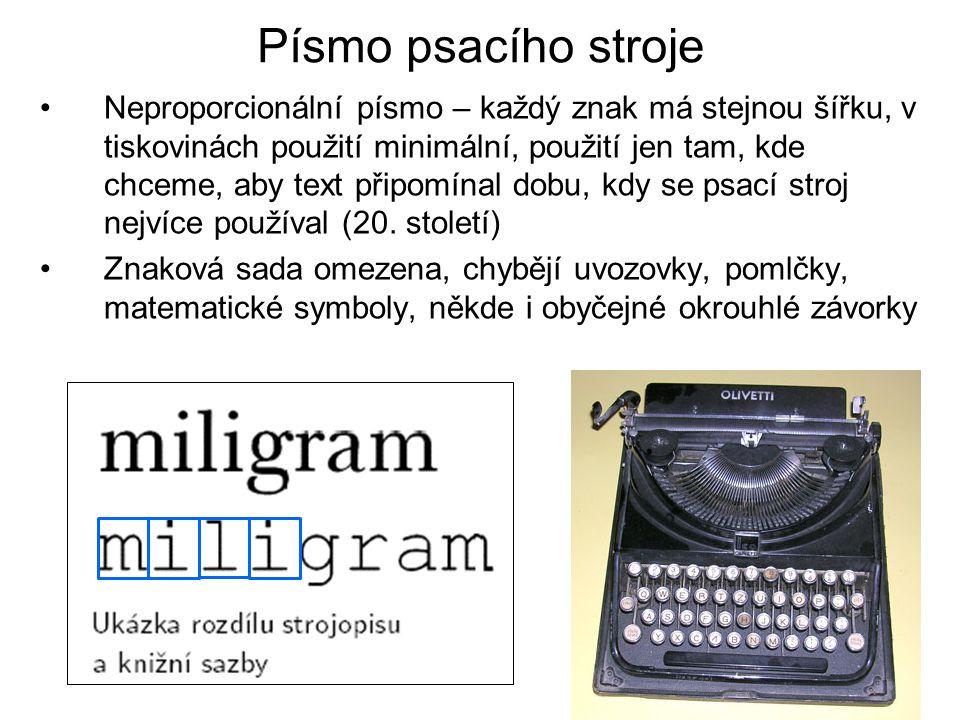 Písmo psacího stroje