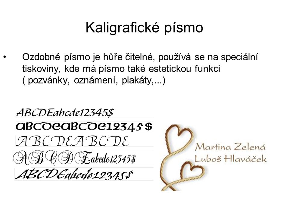 Kaligrafické písmo