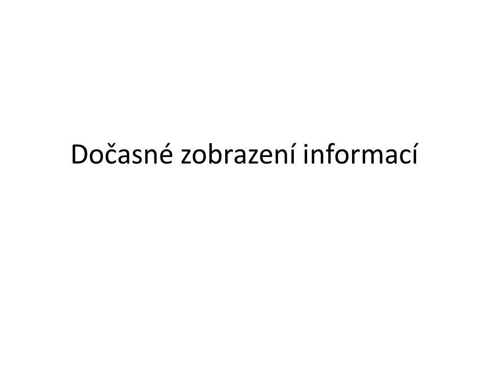 Dočasné zobrazení informací