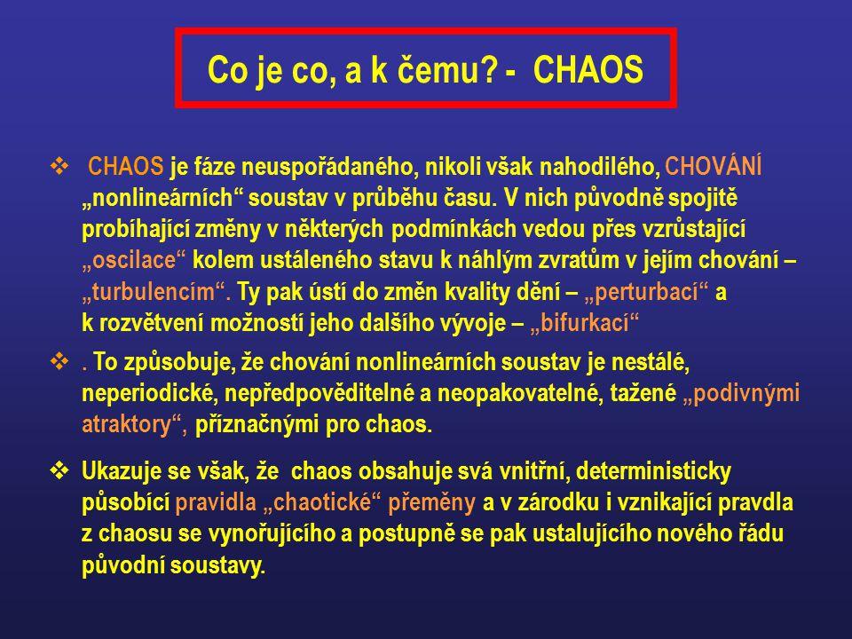 Co je co, a k čemu - CHAOS