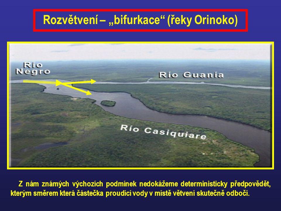 """Rozvětvení – """"bifurkace (řeky Orinoko)"""