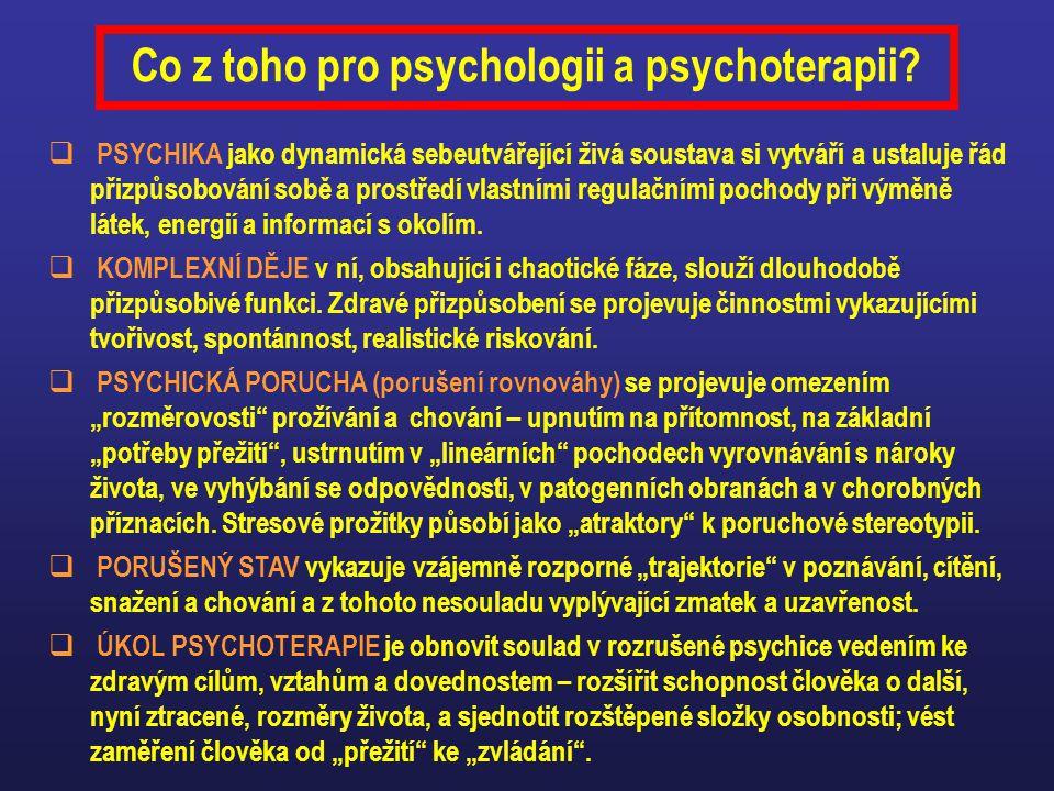 Co z toho pro psychologii a psychoterapii