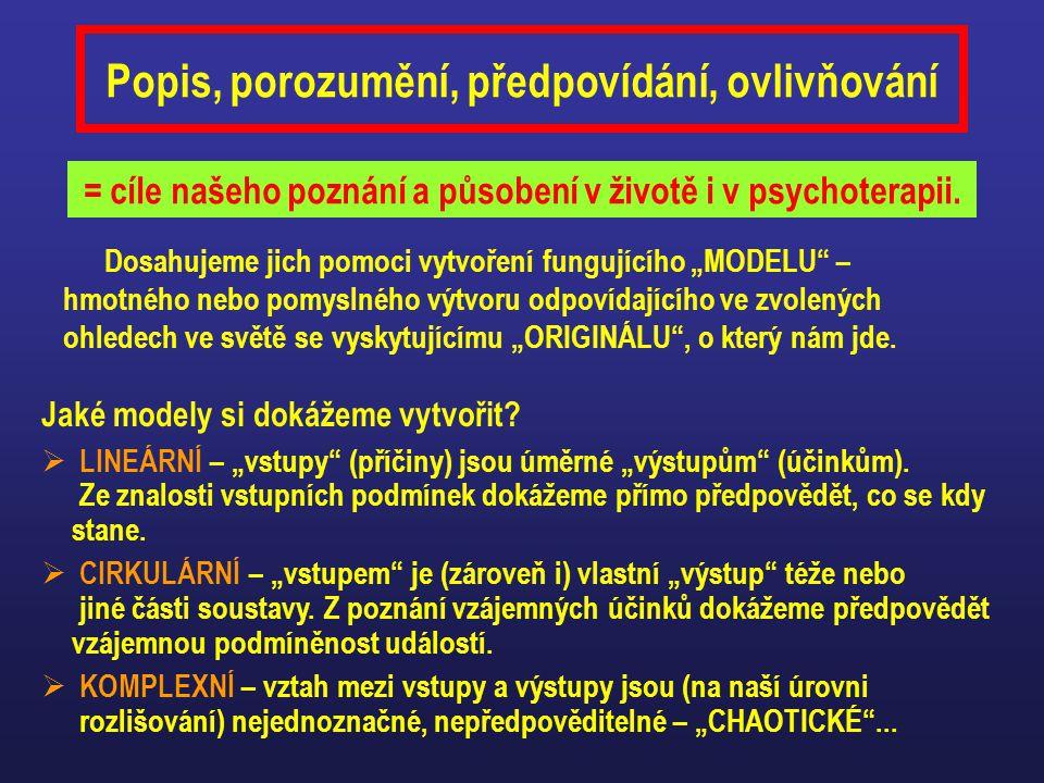 Popis, porozumění, předpovídání, ovlivňování