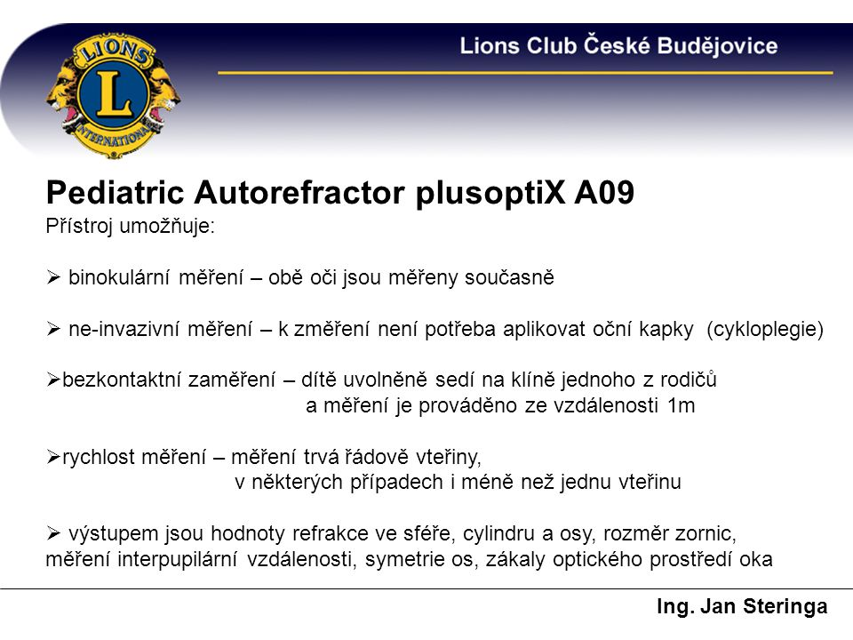 Pediatric Autorefractor plusoptiX A09
