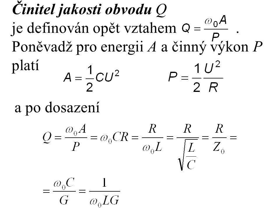 Činitel jakosti obvodu Q