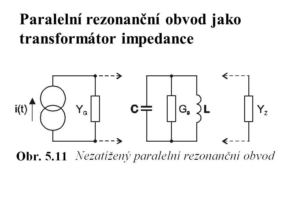 Paralelní rezonanční obvod jako