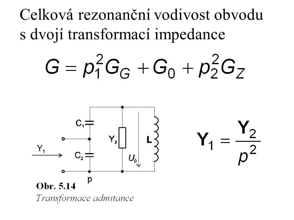 Celková rezonanční vodivost obvodu