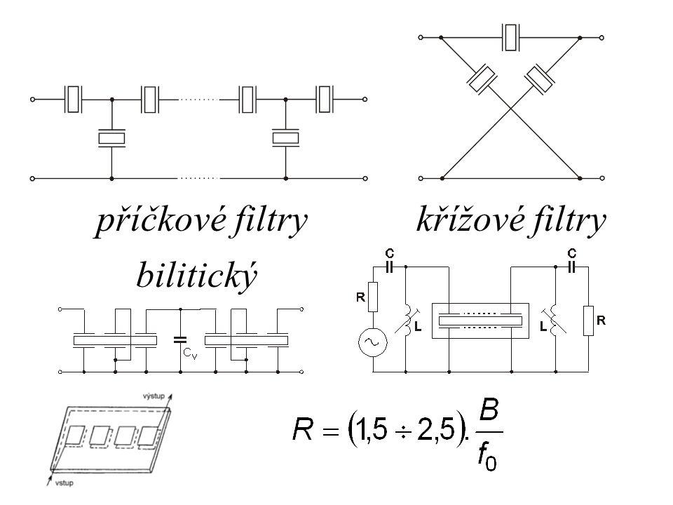 příčkové filtry křížové filtry bilitický