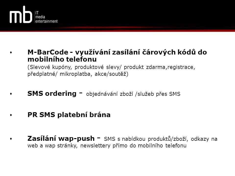 M-BarCode - využívání zasílání čárových kódů do mobilního telefonu