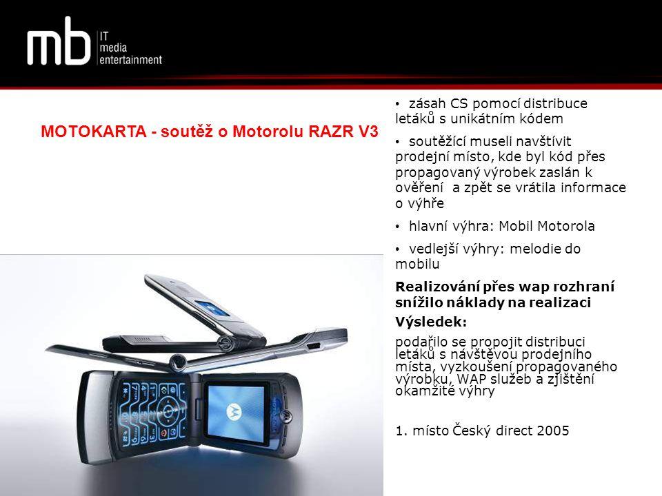MOTOKARTA - soutěž o Motorolu RAZR V3