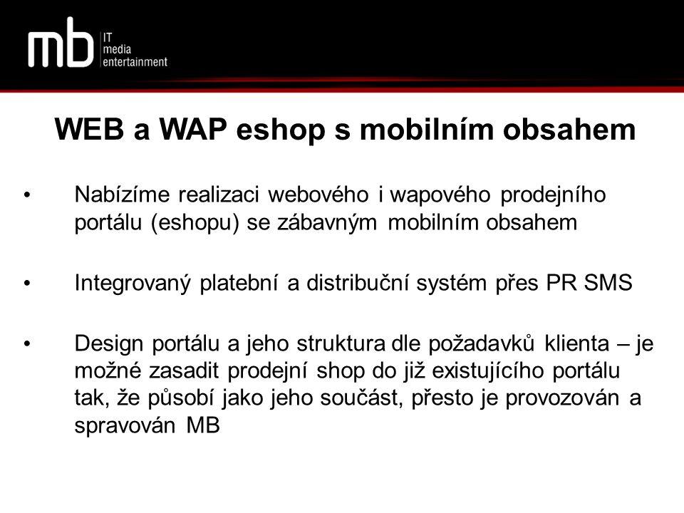 WEB a WAP eshop s mobilním obsahem