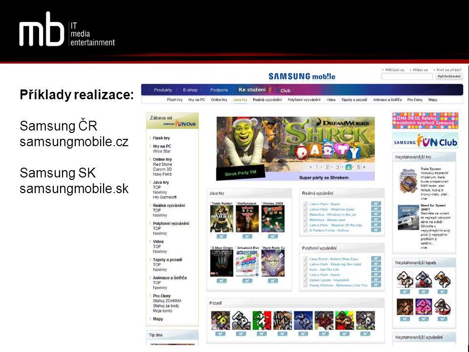 Příklady realizace: Samsung ČR samsungmobile