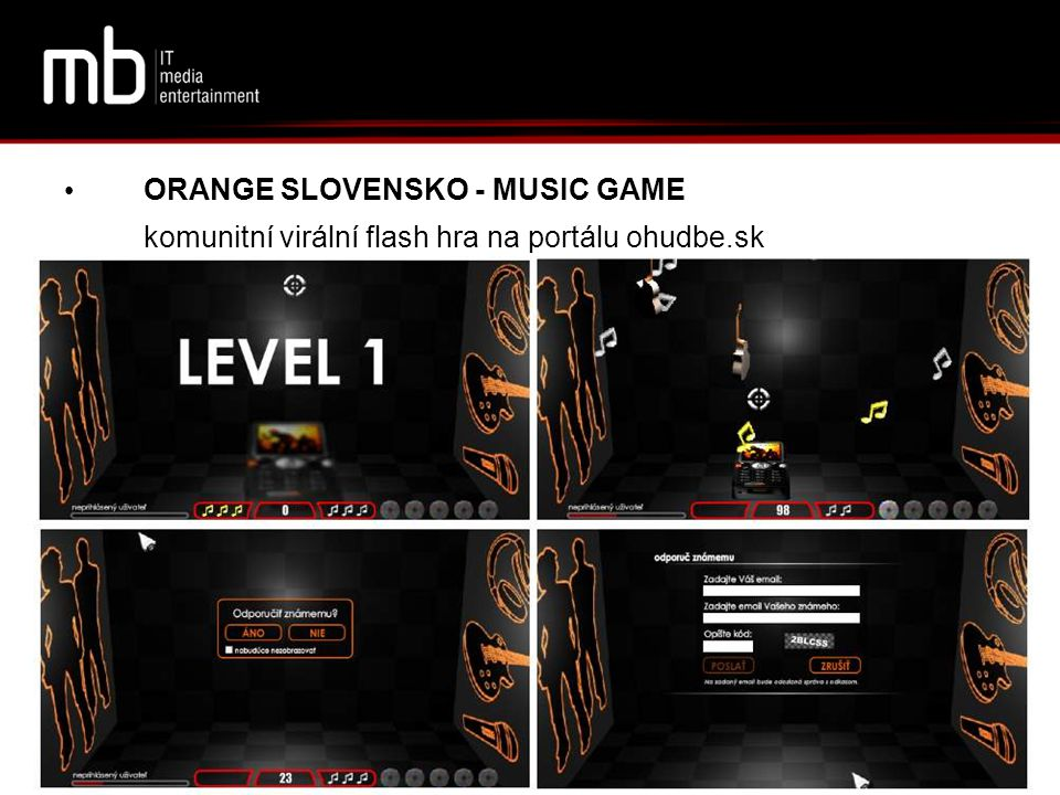 ORANGE SLOVENSKO - MUSIC GAME