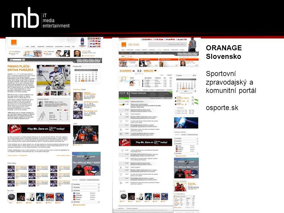 ORANAGE Slovensko Sportovní zpravodajský a komunitní portál osporte.sk