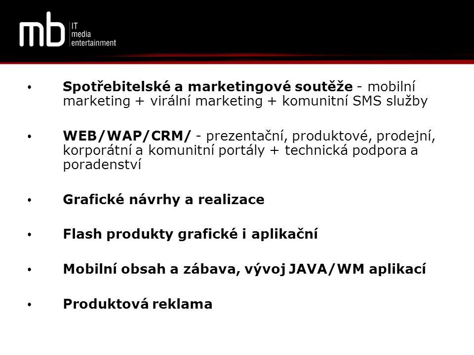 Spotřebitelské a marketingové soutěže - mobilní marketing + virální marketing + komunitní SMS služby