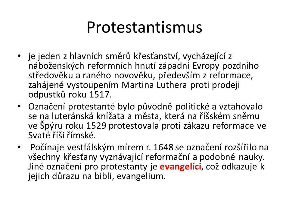Protestantismus