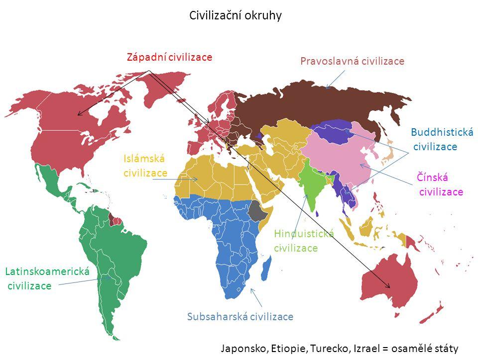 Civilizační okruhy Západní civilizace Pravoslavná civilizace