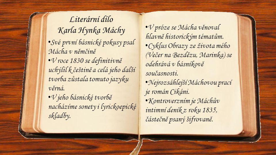 Literární dílo Karla Hynka Máchy