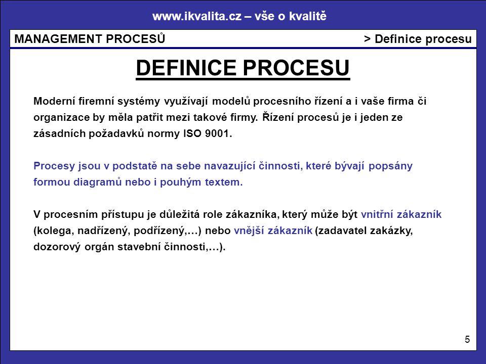 DEFINICE PROCESU > Definice procesu