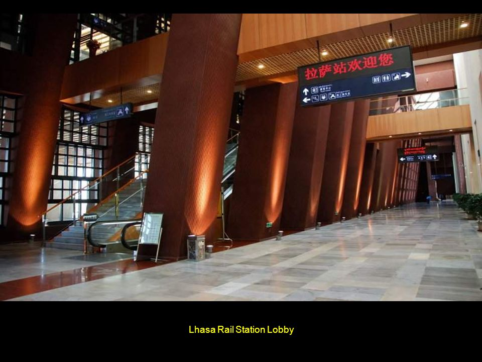 Lhasa Rail Station Lobby