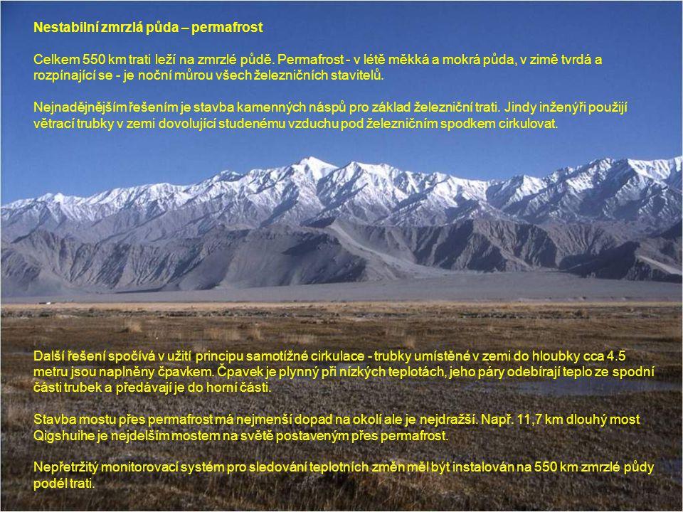 Nestabilní zmrzlá půda – permafrost