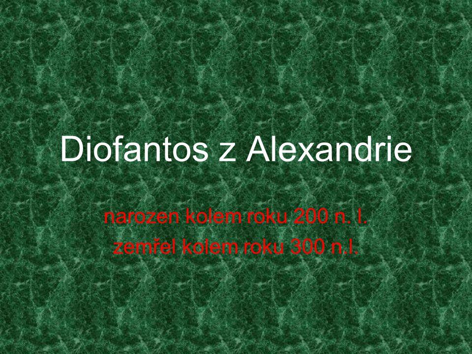 Diofantos z Alexandrie