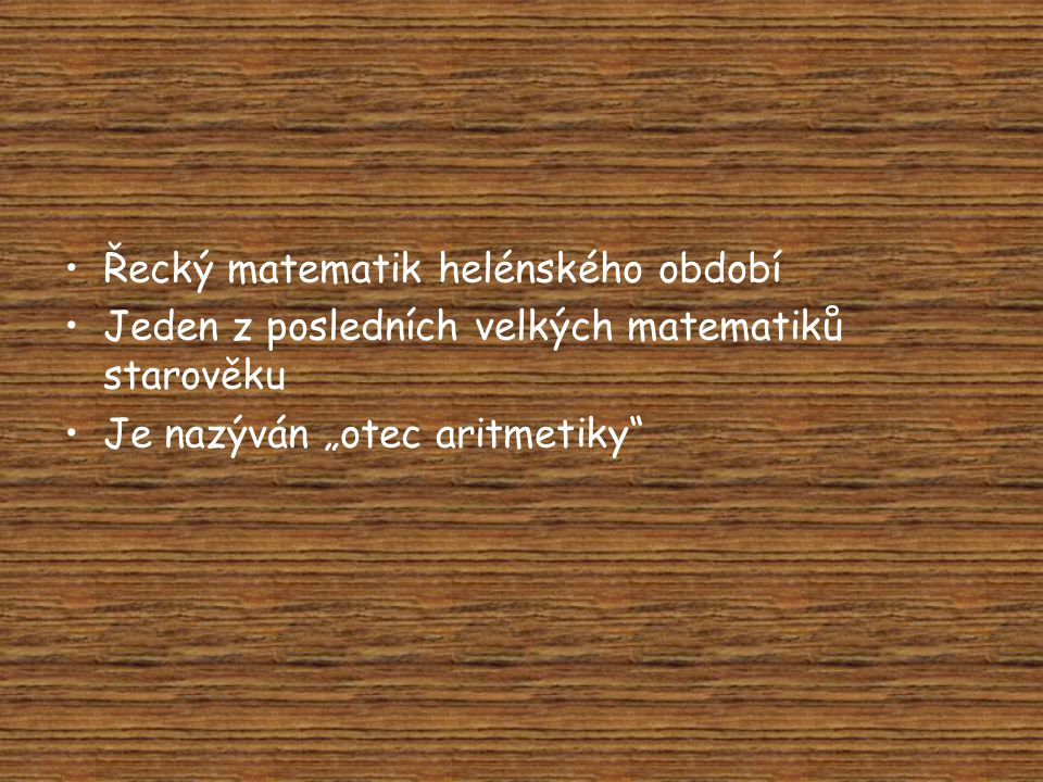 Řecký matematik helénského období