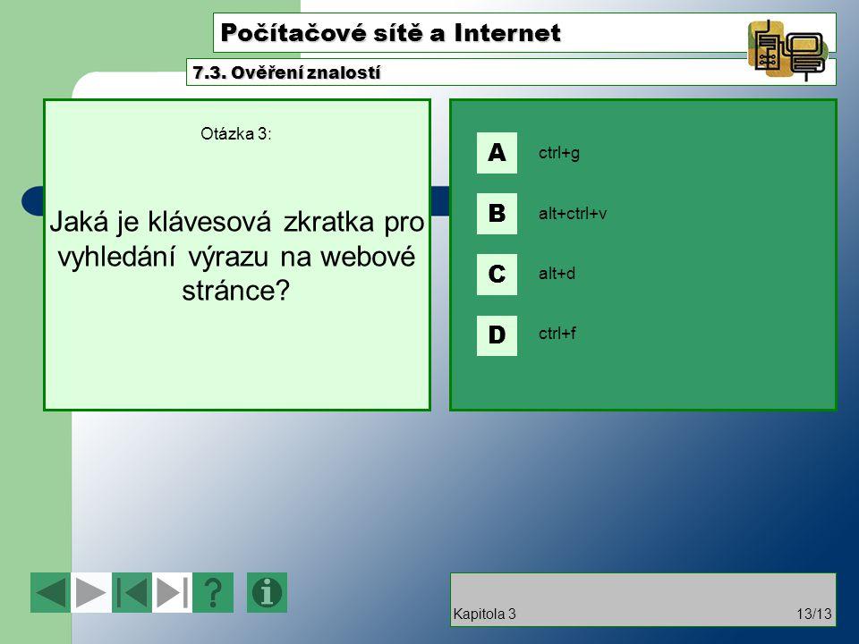 Počítačové sítě a Internet