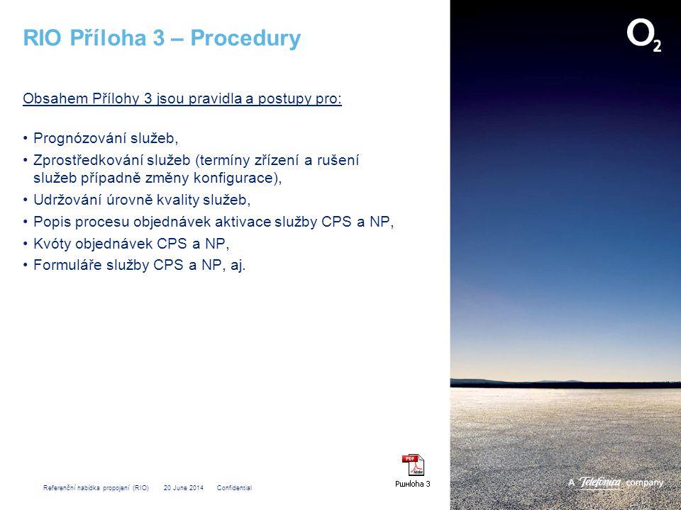 RIO Příloha 3 – Procedury