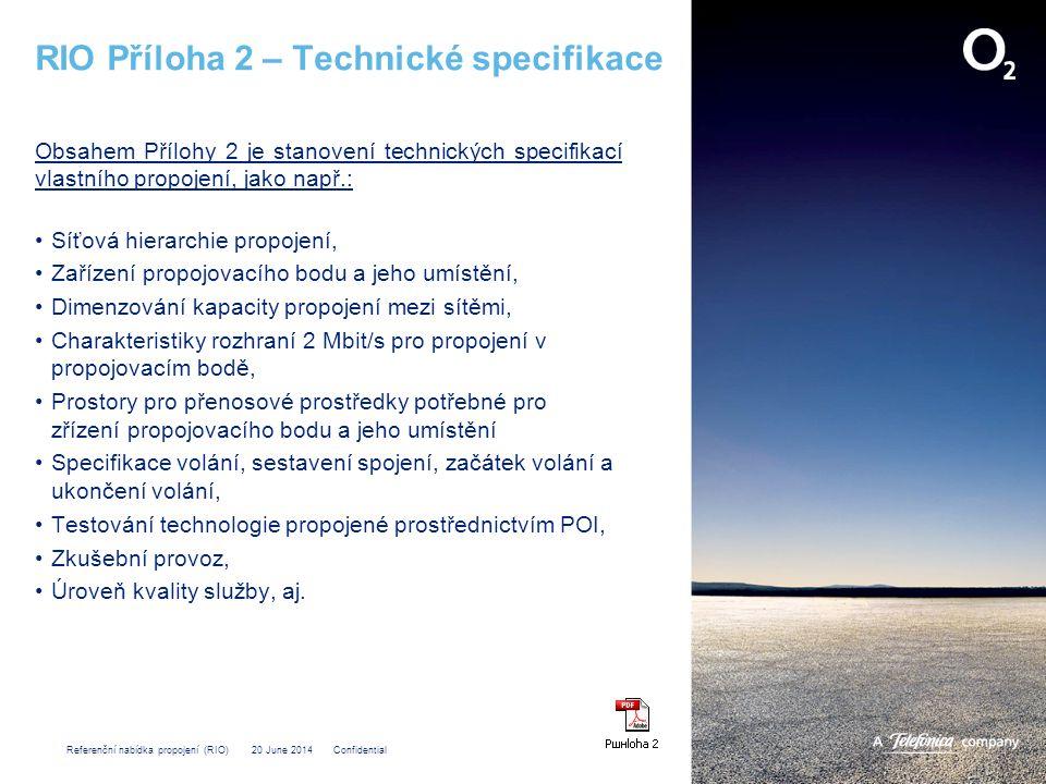 RIO Příloha 2 – Technické specifikace