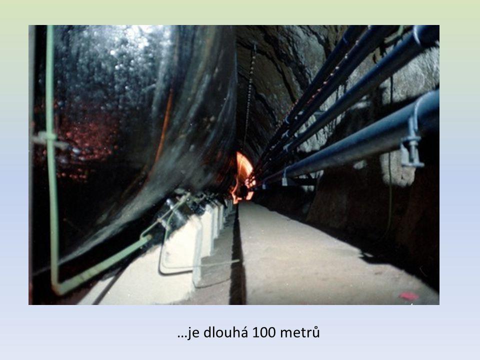 …je dlouhá 100 metrů