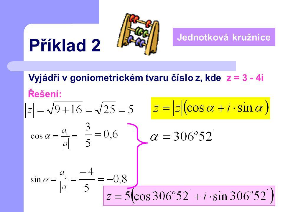 Příklad 2 Jednotková kružnice
