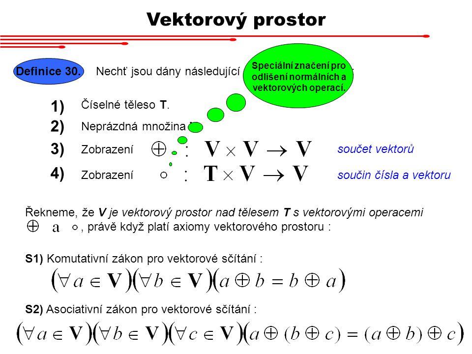 Speciální značení pro odlišení normálních a vektorových operací.