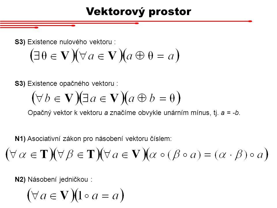 Vektorový prostor S3) Existence nulového vektoru :