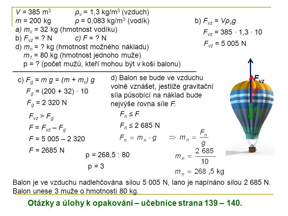 Otázky a úlohy k opakování – učebnice strana 139 – 140.